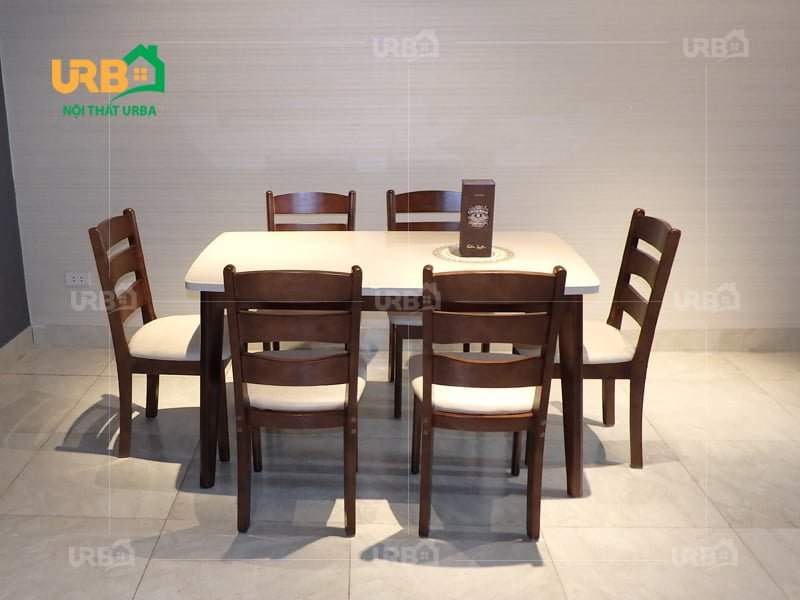 Bàn ghế ăn mã BA 1800