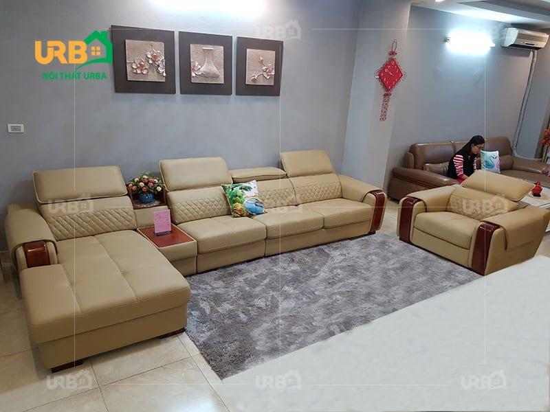 6 Mẫu sofa góc da đẹp và sang trọng cho phòng khách lớn3