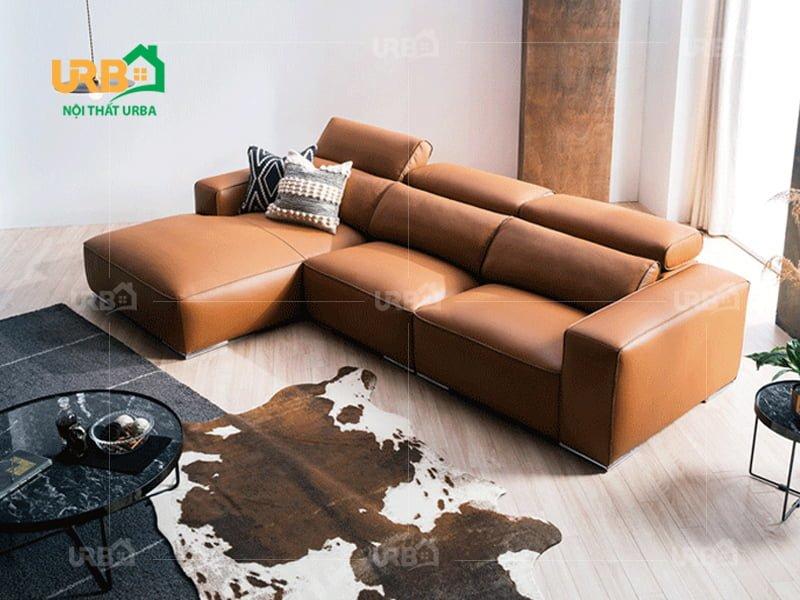 10 Bộ sofa phòng khách nhỏ chân inox HOT năm nay 4
