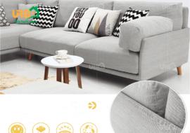 Sofa Góc Nỉ Mã 4022
