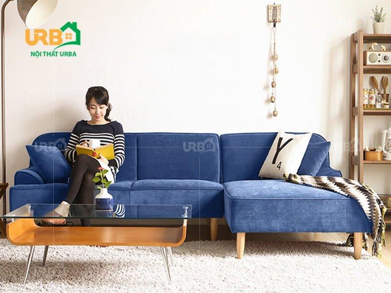 Sofa Góc Nỉ Mã 4027