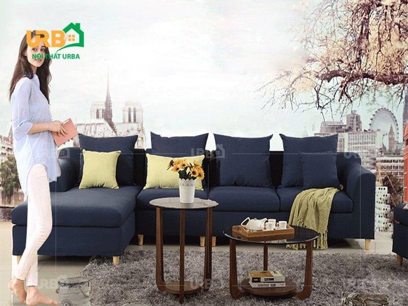Sofa Góc Nỉ Mã 4037