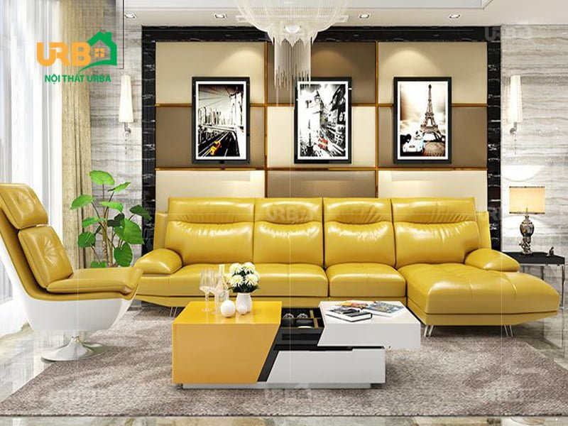 sofa phòng khách vàng