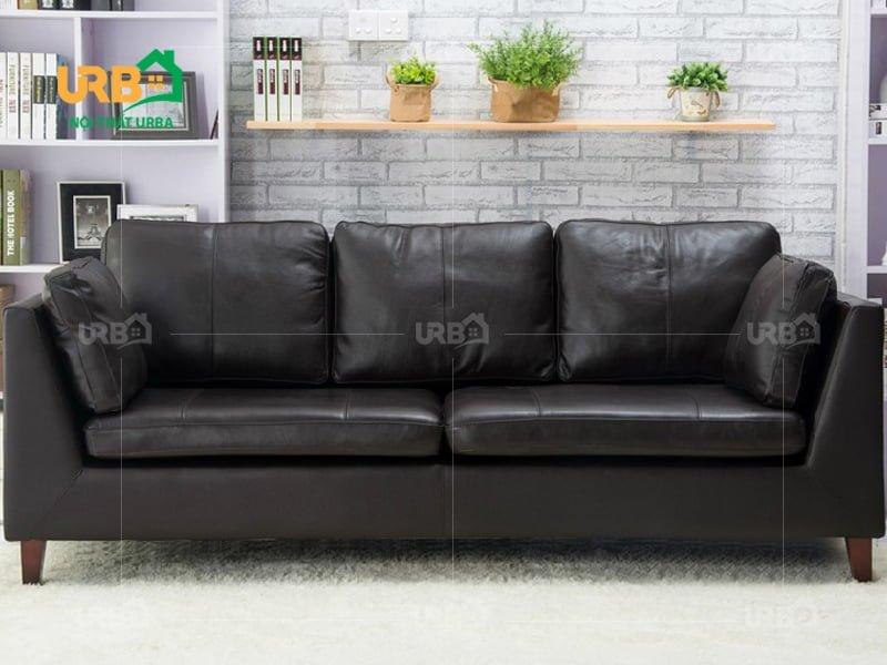 sofa văng màu đen 3 chỗ ngồi