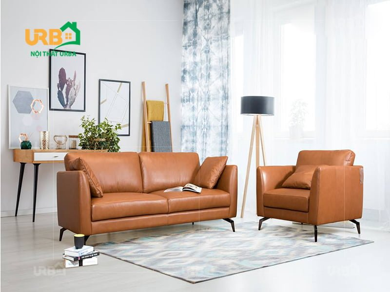 6 Mẫu sofa văng đẹp bằng da cho phòng khách nhỏ hiện đại 2