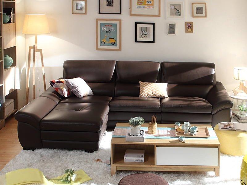 sofa văng da 044 kích thước linh hoạt