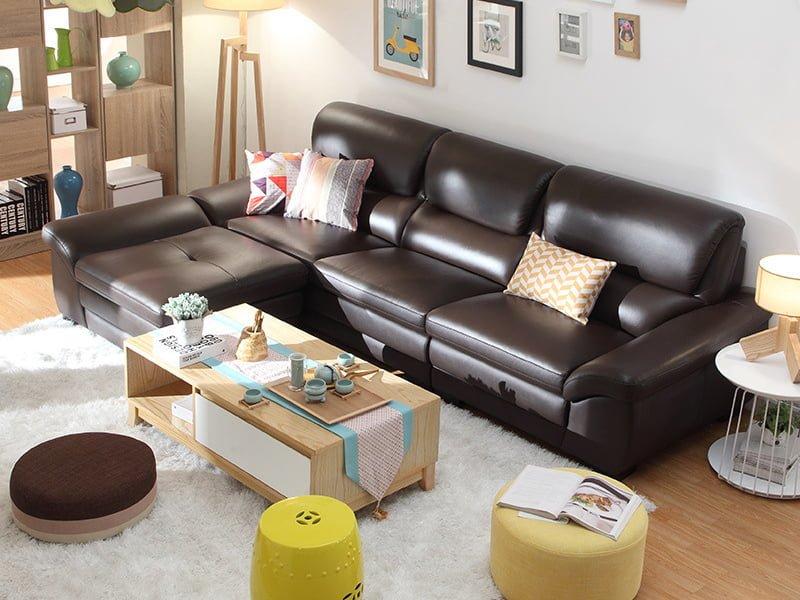 sofa văng da mã 044 kiểu dáng hiện đại