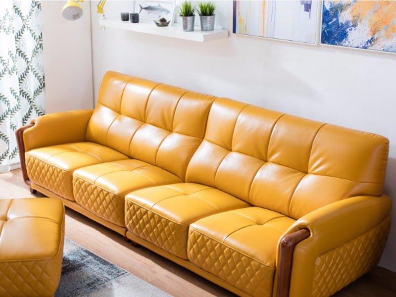 Sofa văng da mã 046 mang tới không gian sang trọng