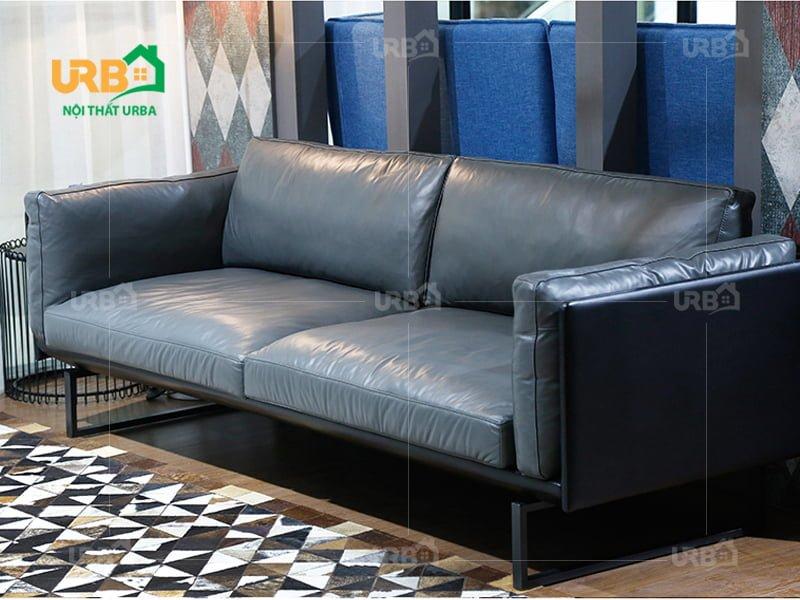sofa văng da mã 051 chất liệu cao cấp, bền bỉ