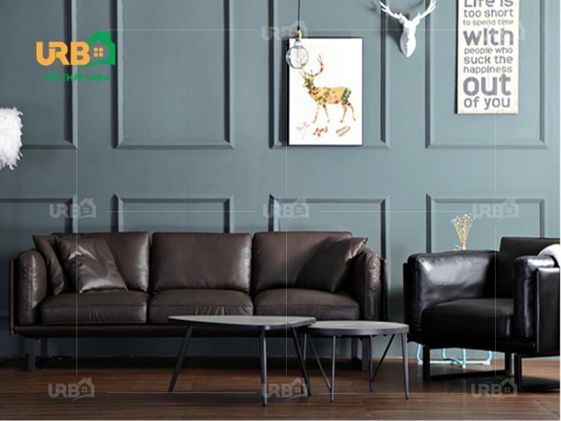 Sofa văng da mã 051 thiết kế hoàn hảo cho không gian nhỏ