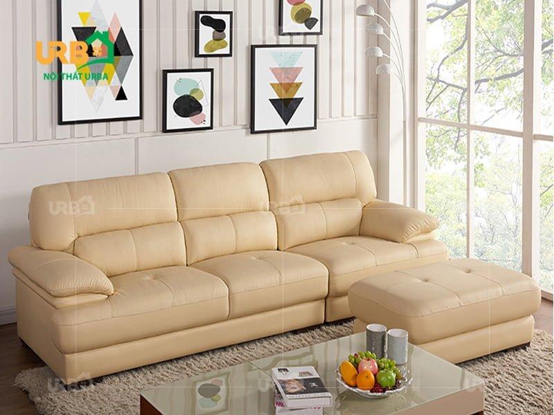 Sofa văng da mã 053 màu sắc trẻ trung, thời thượng