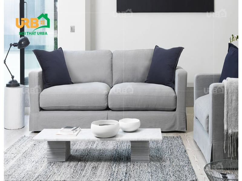 sofa văng 2 chỗ ngồi vải nỉ