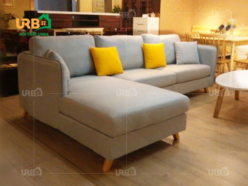 Thiết kế kiểu sofa văng nỉ mã 034-2 nhỏ gọn và tiện ích