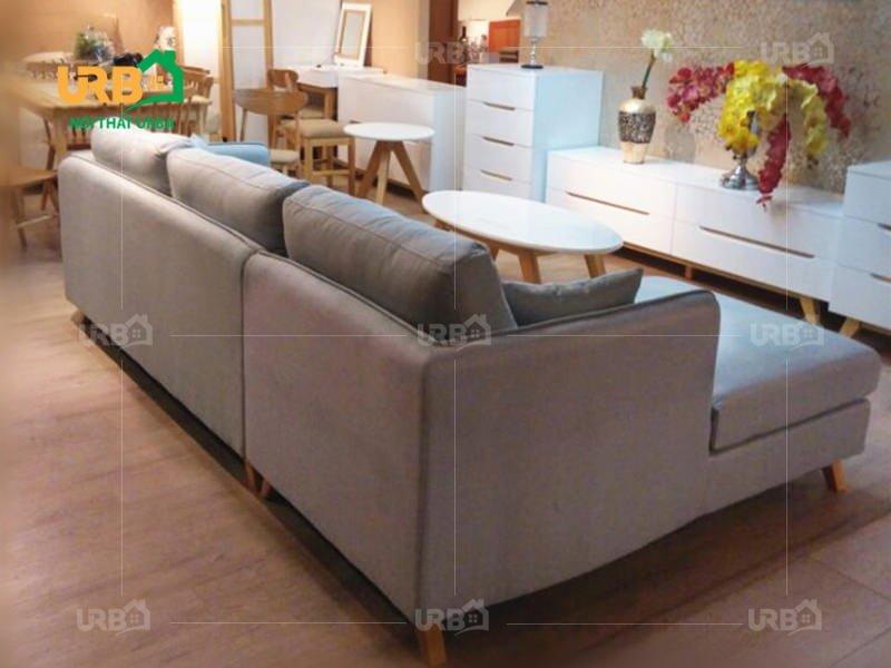 Thiết kế kiểu sofa văng nỉ mã 034-2 nhỏ gọn và tiện ích (2)