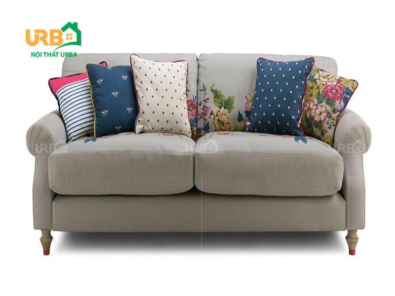 Sofa văng nỉ mã 056 thiết kế đơn giản, tinh tế