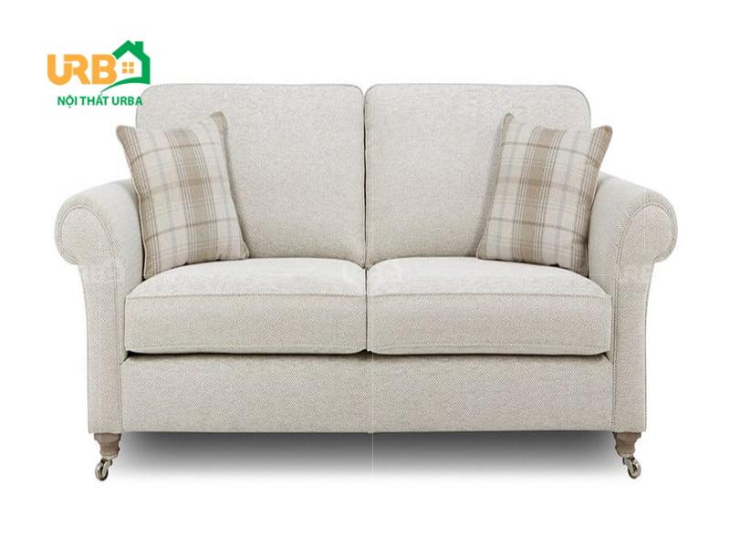 Mẫu ghế sofa văng nỉ mã 057 phù hợp cho phòng khách nhỏ