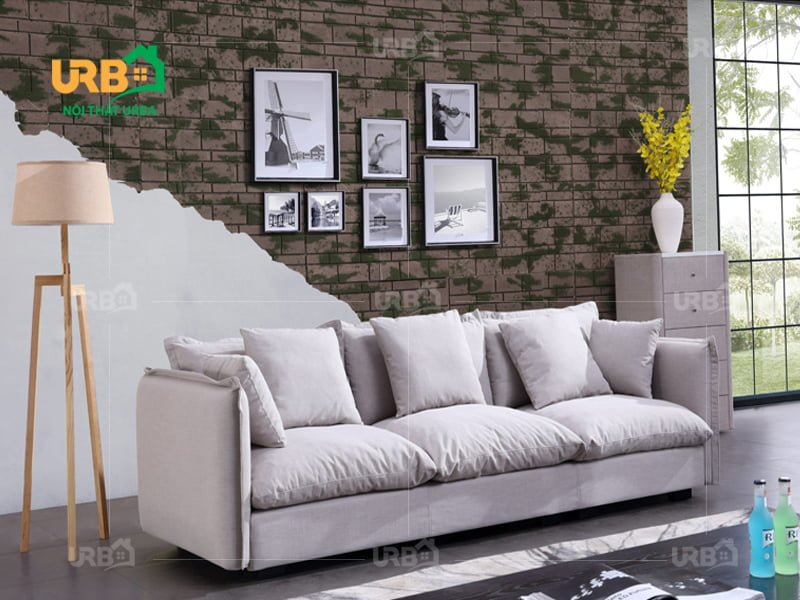 Phong cách hiện đại, mới mẻ với mẫu sofa văng nỉ mã 058