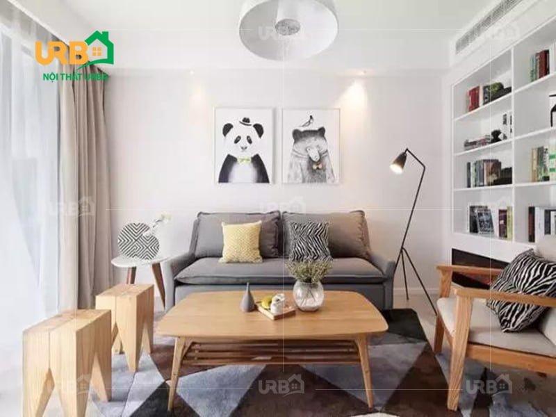 Sofa văng nỉ mã 064 - Giải pháp hoàn hảo cho không gian nhỏ