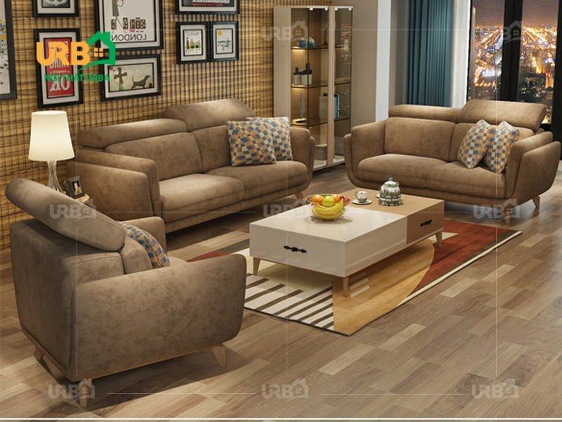 Phòng khách hiện đại, ấn tượng với sofa văng nỉ mã 070