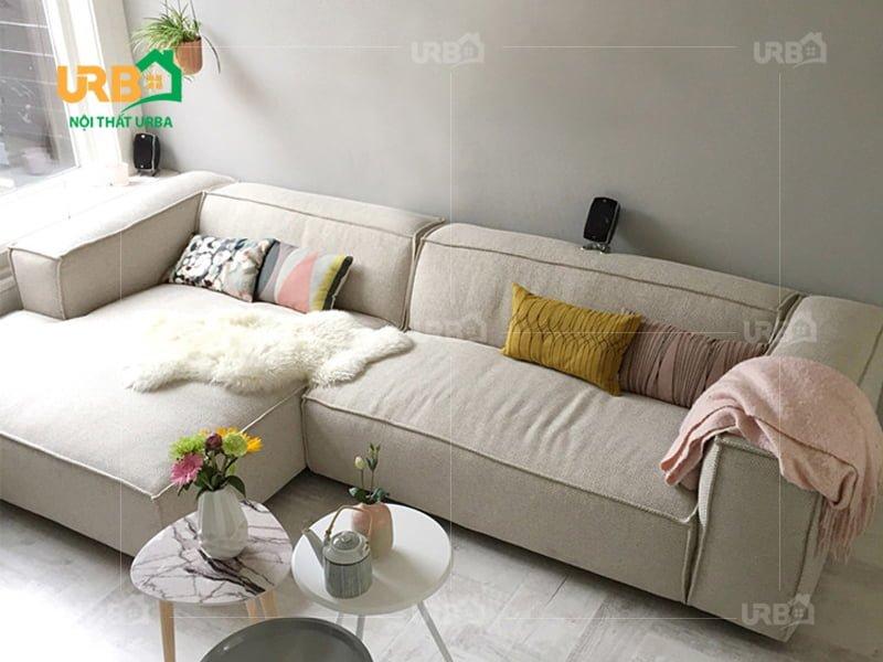 sofa văng nỉ mã 071 kích thước nhỏ gọn