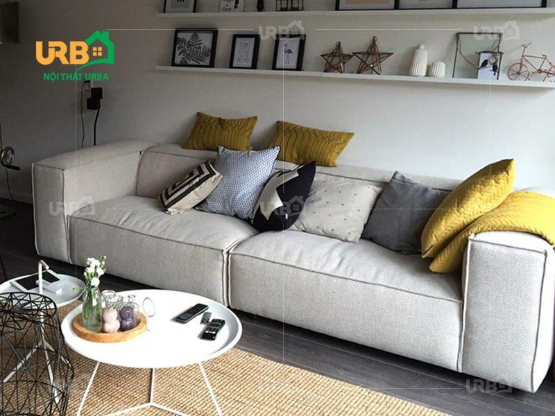 Sofa văng nỉ mã 071 kiểu dáng đơn giản