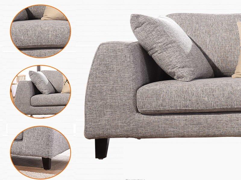 sofa văng nỉ 071 thiết kế tinh tế