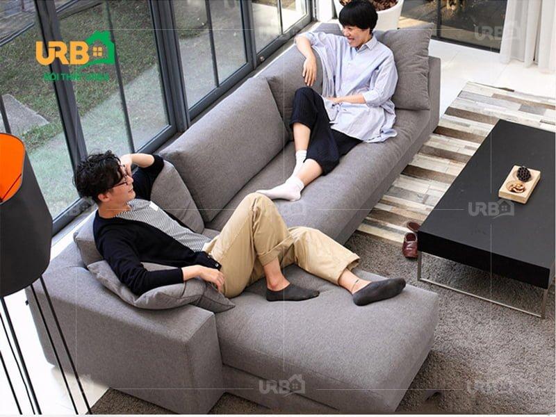 Sofa Góc Nỉ Mã 4017