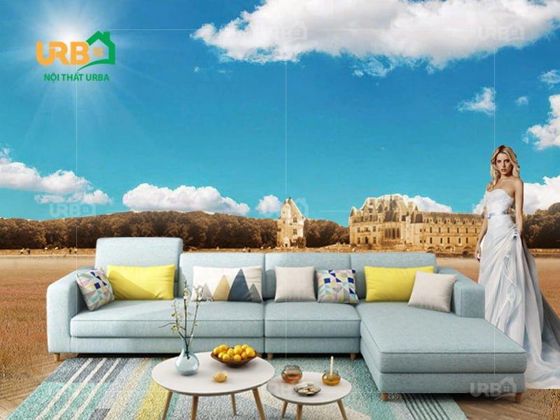 Sofa góc Nỉ mã 4002 3