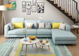 Sofa góc Nỉ mã 4002
