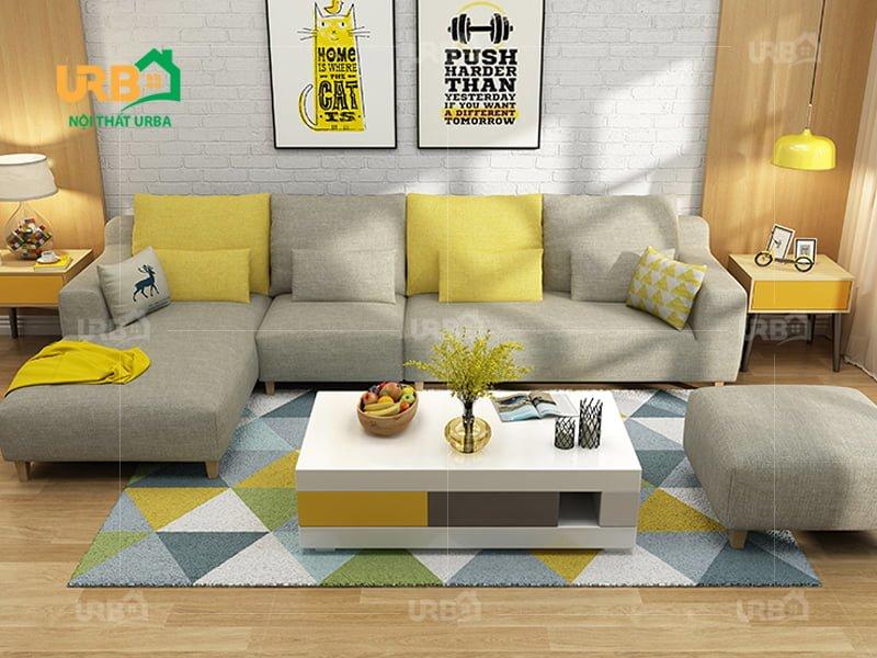 sofa vải nỉ nhiều họa tiết rẻ đẹp
