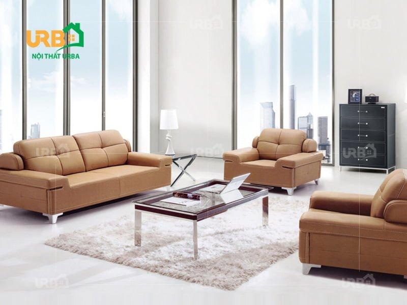 sofa văn phòng chân inox