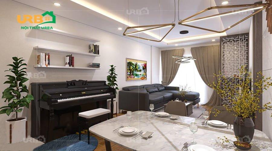Ấn tượng với mẫu thiết kế nội thất nhà phố tại Nam Định1