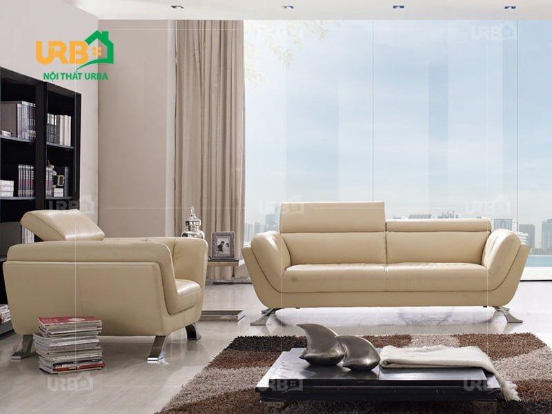 ghế sofa văn phòng màu trắng