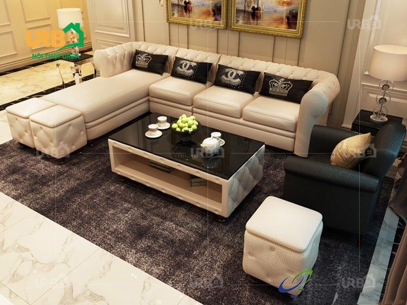 Hướng dẫn cách trang trí ghế sofa tân cổ điển hợp phong thuỷ 4