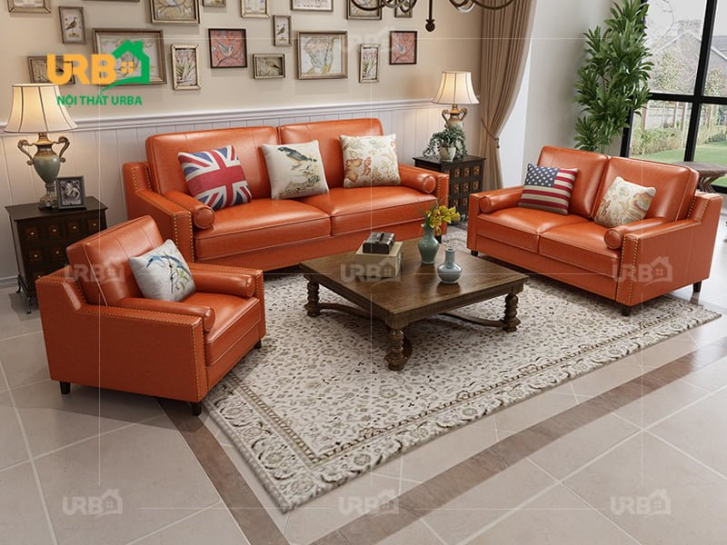 Bộ sofa tân cổ điển 2027 với gam màu nâu