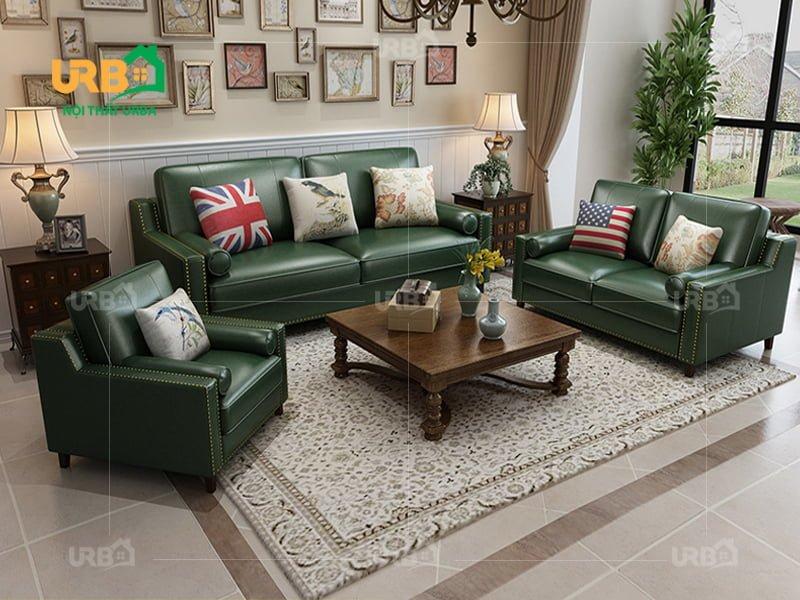 Sofa tân cổ điển 2027 Gam màu xanh rêu mới mẻ, sang trọng