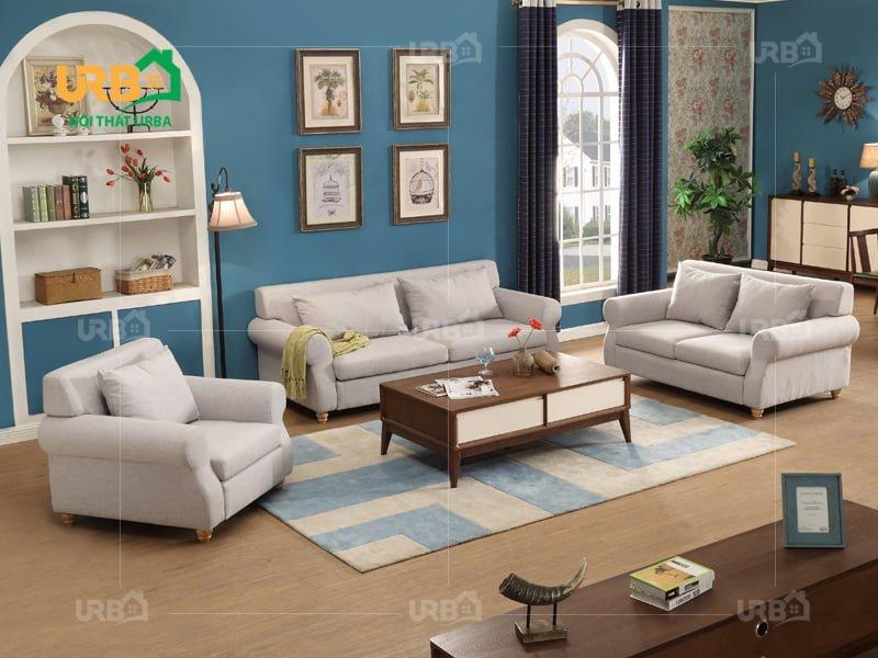 Phòng khách sang trọng với sofa tân cổ điển 2028