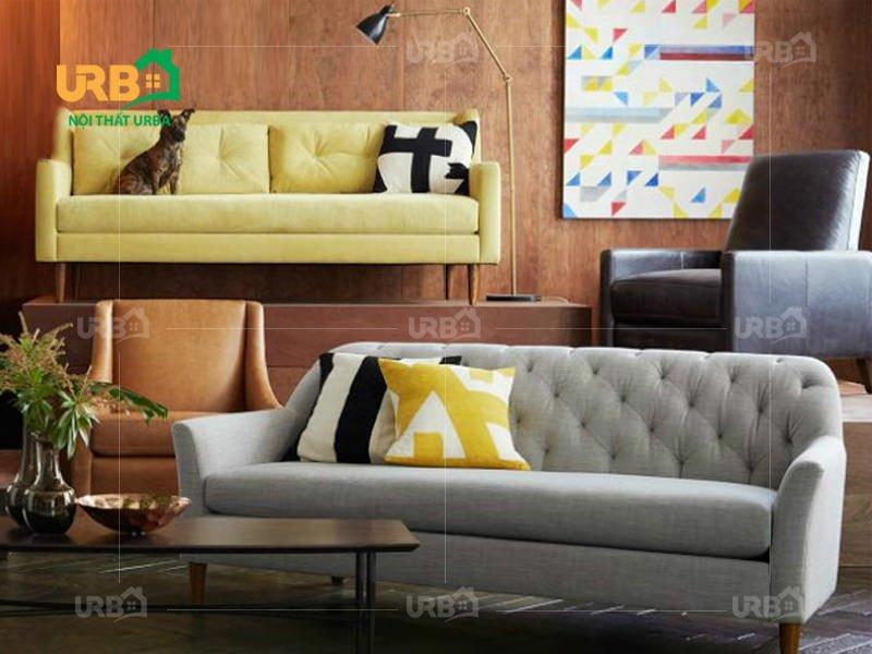 sofa tân cổ điển 2029 chân cao cho phòng khách trở nên thoáng mát hơn