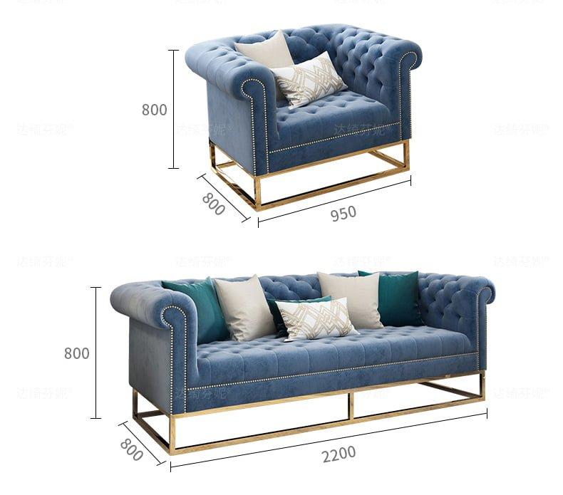 sofa tân cổ điển 2007 Đa dạng kích thước, màu sắc