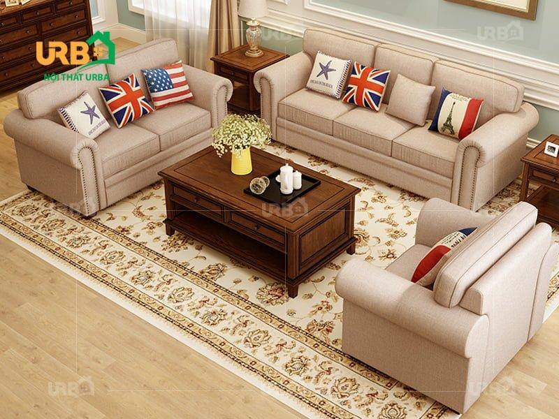 sofa tân cổ điển da