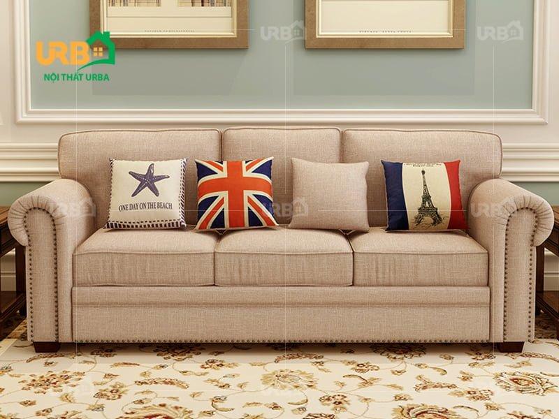sofa tân cổ điển 2008 Chất liệu vải nỉ bền đẹp