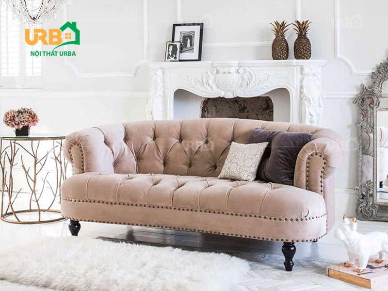 Bộ sofa tân cổ điển mã 2012 cho phòng khách nhỏ