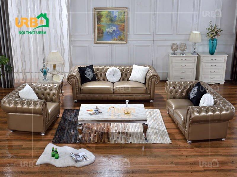 Bộ sofa tân cổ điển 2017 cho phòng khách thêm đẳng cấp
