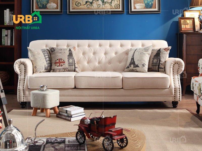 sofa vang 3 chỗ ngồi tân cổ điển