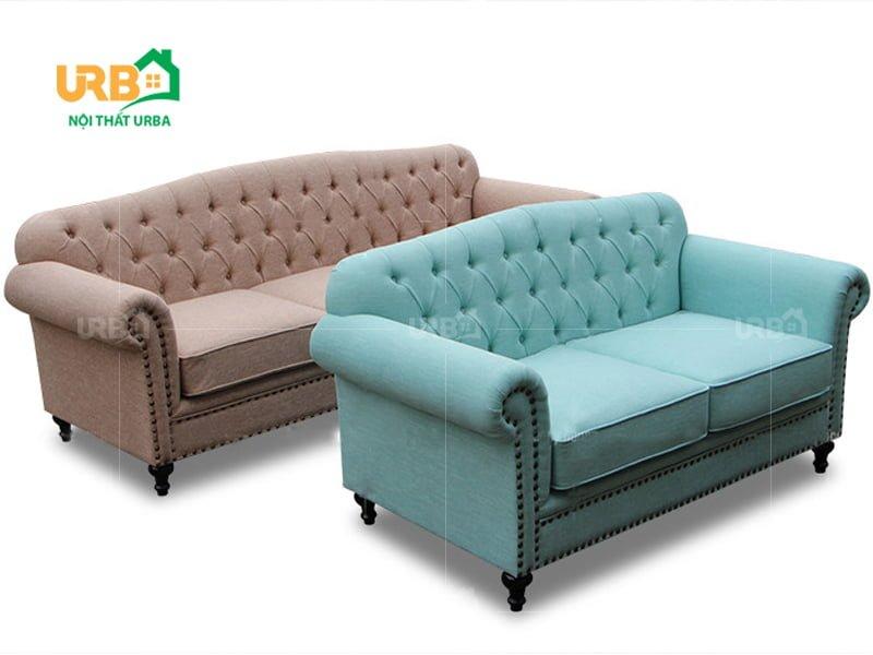 Sofa tân cổ điển 2030 tạo ra ngay trên phần lưng tựa và bo góc của ghế
