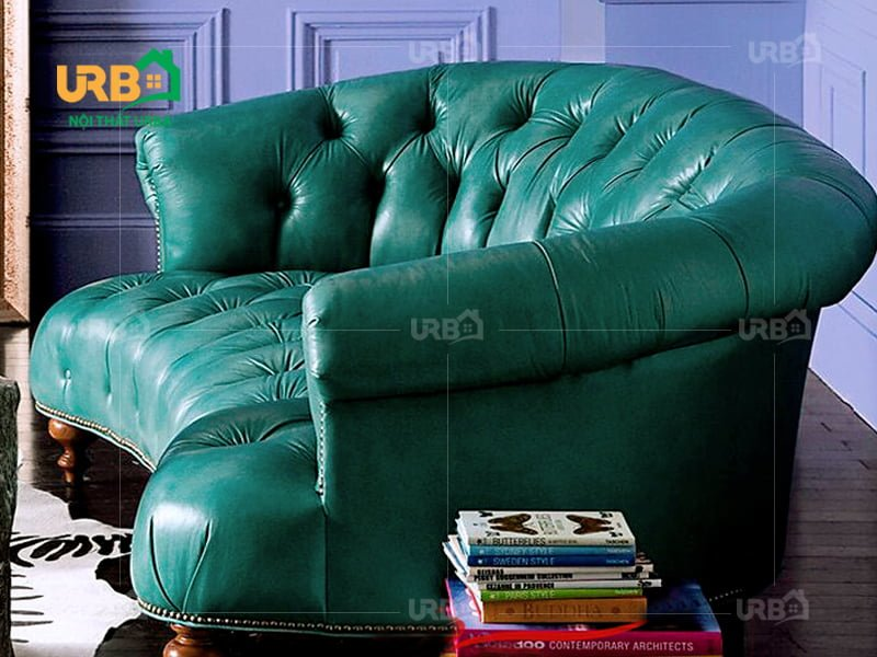 Sofa tân cổ điển 2034 Sự mềm mại được tạo ra ngay trên chất liệu da