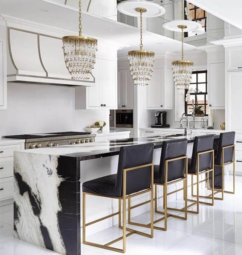 Nội thất nhà bếp theo phong cách Luxury