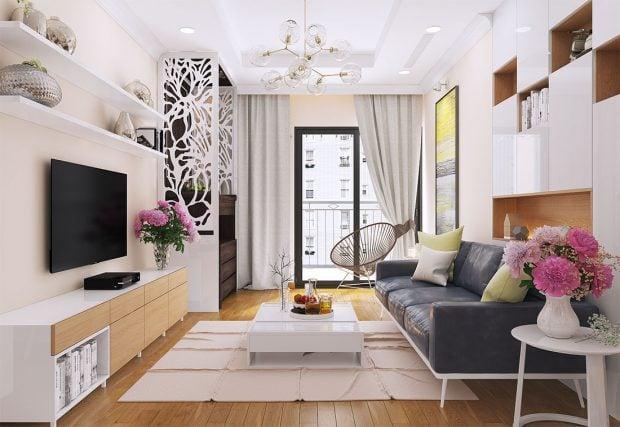 Thiết kế phòng khách cho chung cư nhỏ và vừa