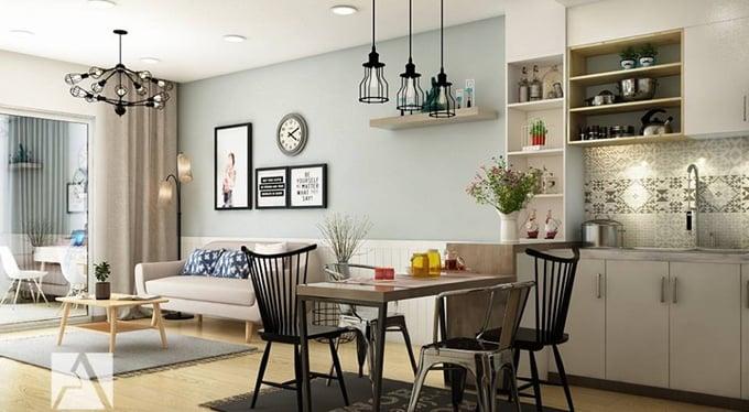Thiết kế nội thất phòng bếp cho chung cư nhỏ và vừa