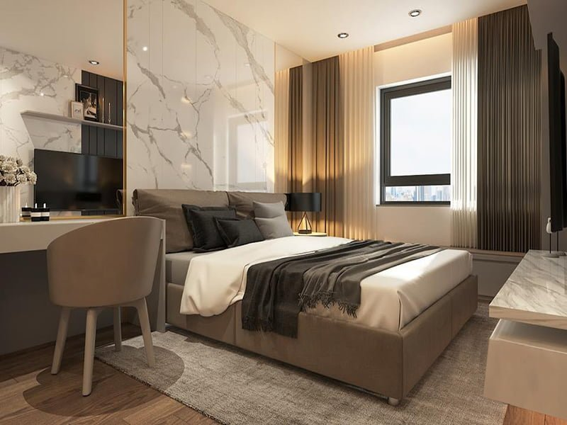 Mẫu thiết kế giường ngủ 1411